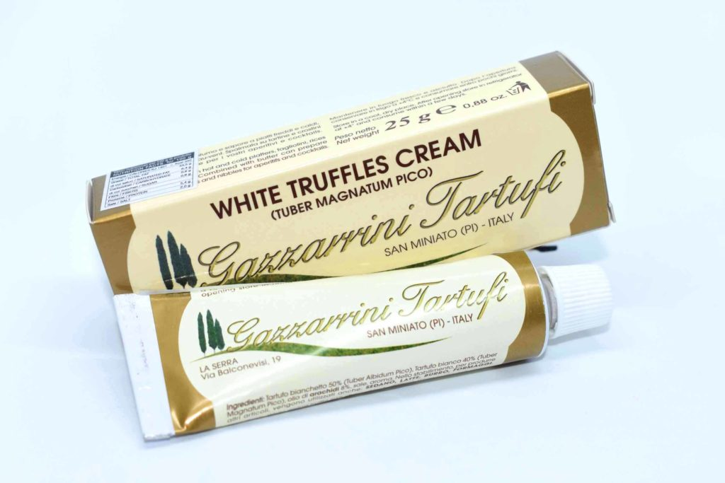 Crema al tartufo bianco, tartufi di san miniato tubetto