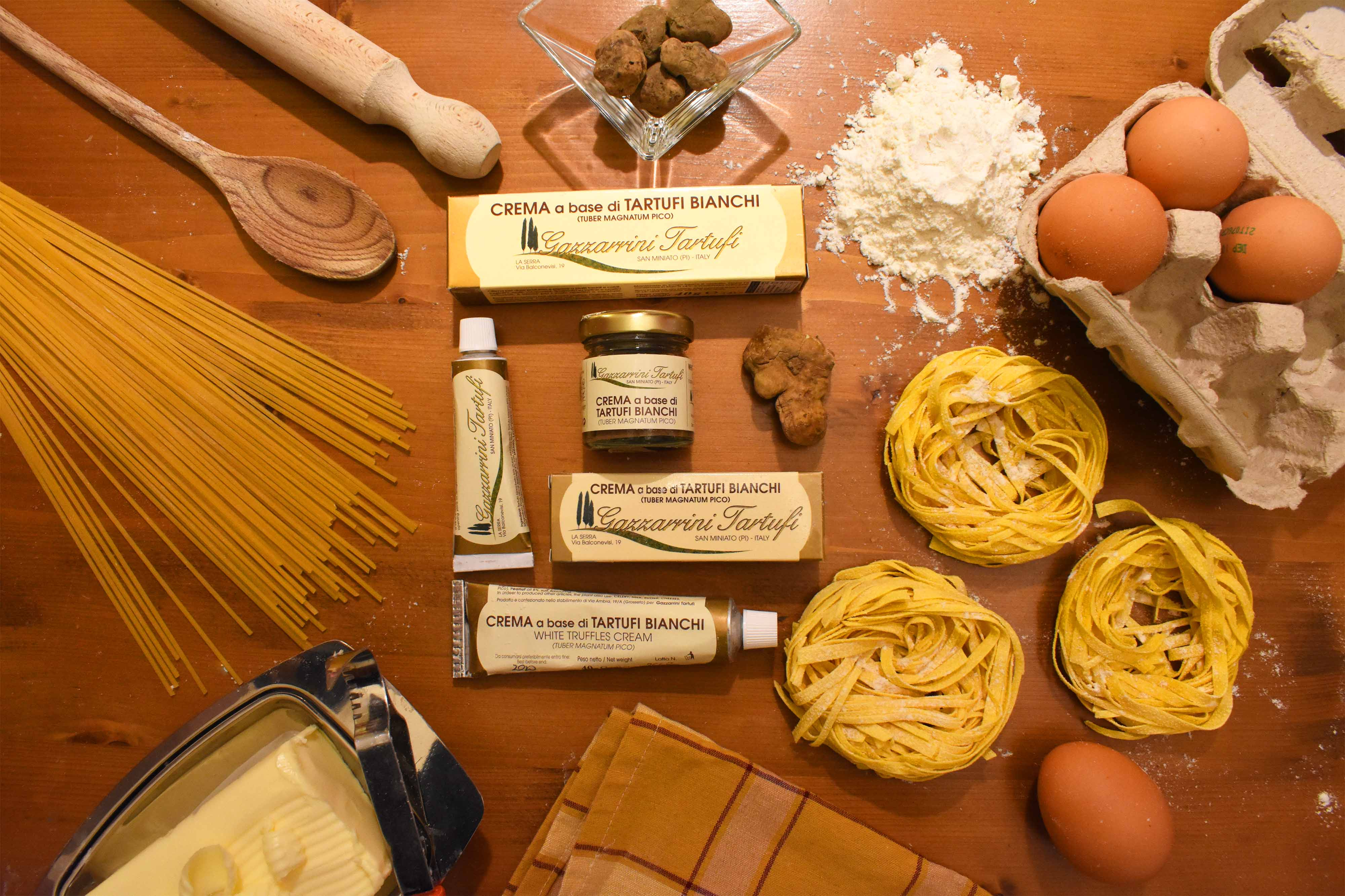 crema tartufi bianchi, tartufi di san miniato, gazzarrini