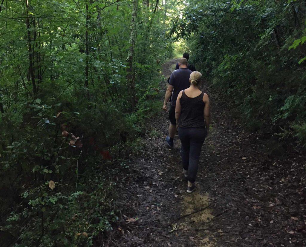 ricerca dei tartufi di san miniato nel bosco